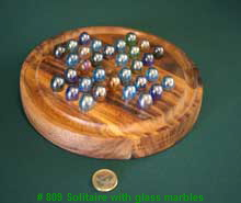 # 809 Solitaire with glass marbles